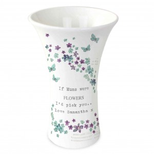 Forget me not Ceramic Waisted Vase