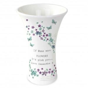 Forget me not Ceramic Waisted Vase