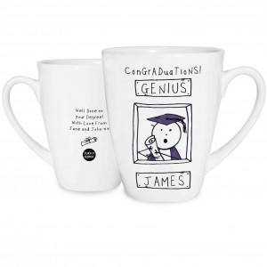 Purple Ronnie Male Graduation Latte Mug