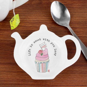 Vintage Pastel Cupcake Tea Bag Rest