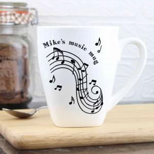 Musical Notes Latte Mug