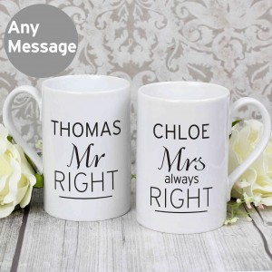 Classic Mr Right/Mrs Always Right Mug Set