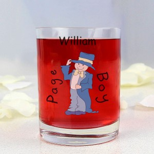Cartoon Wedding Young Male Juice Glass