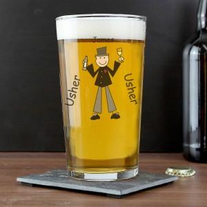 Cartoon Pilsner Glass