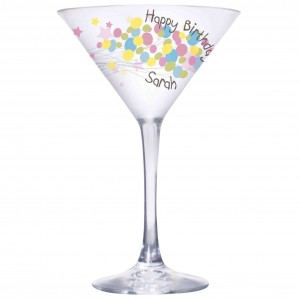 Birthday Balloon Cocktail Glass