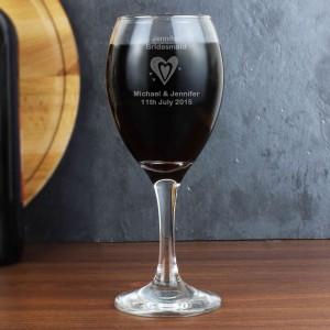 Designer Wine Glass-Hearts