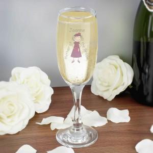 Cartoon Wedding Elder Lady Flute Glass