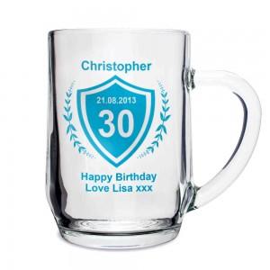 Age Crest Glass Tankard