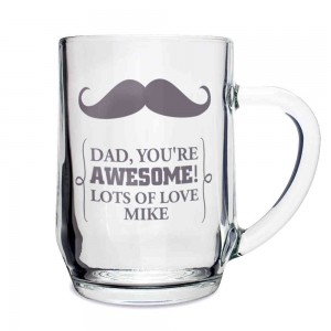 Moustache Glass Tankard