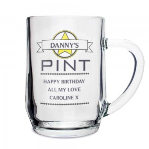 Diamond Glass Tankard