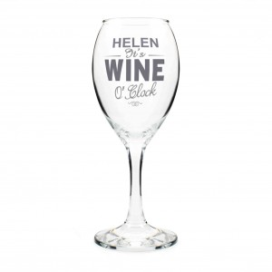 Wine OClock Wine Glass