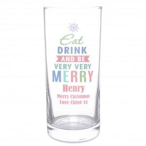 Merry Christmas Bright... Hi Ball Glass
