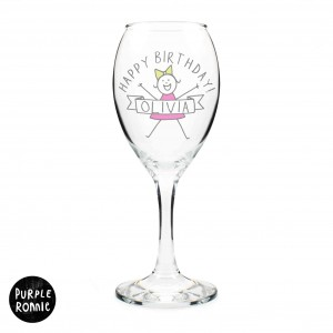 Purple Ronnie For Her Celebration Wine Glass