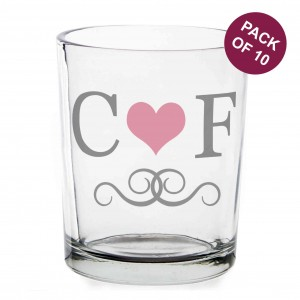 Pack of 10 Monogram Votive Candle Holders