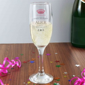 Champagne Crown Glass Flute