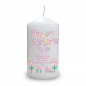 Daisy Happy Mothers Day Candle