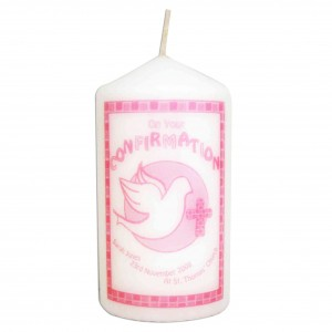 Confirmation Candle Pink