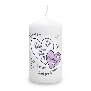 Butterfly Hearts Wedding Candle