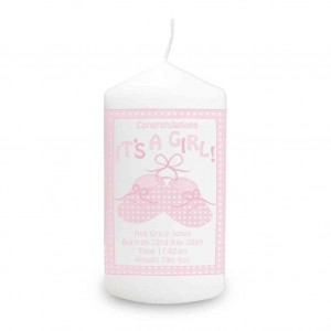 Bootee It's a Girl Candle