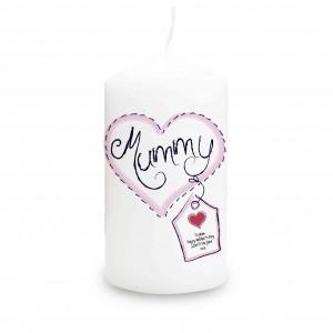 Heart Stitch Mummy Candle