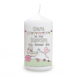 Whimsical Pram Candle
