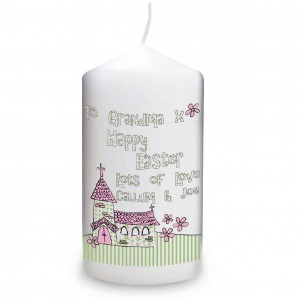 Whimsical Church Easter Candle