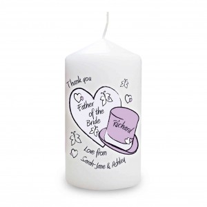 Butterfly Hats Wedding Candle
