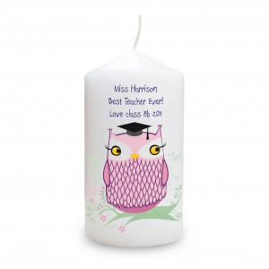 Miss Owl Candle