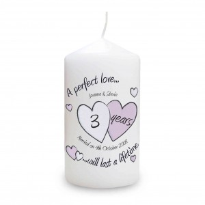A Perfect Love Anniversary Candle