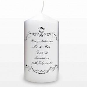 Ornate Swirl Candle