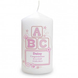 Pink ABC Candle