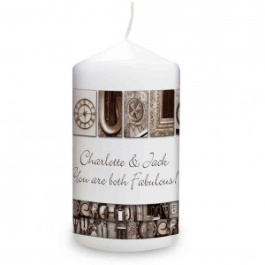 Affection Art Couple Candle
