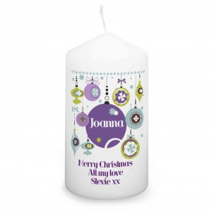 Retro Bauble Candle