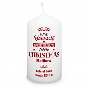 Have Yourself A Merry Little Christmas Candle