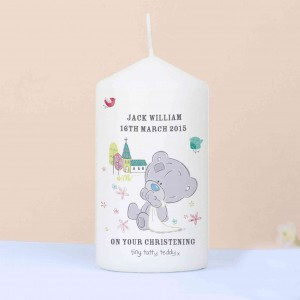 Tiny Tatty Teddy Christening Candle