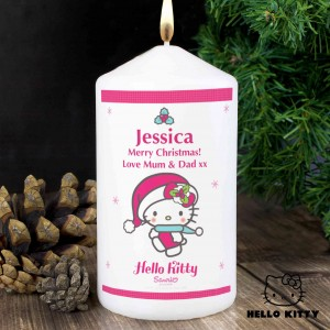 Hello Kitty Pink Christmas Candle