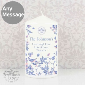 Country Diary Blue Blossom Candle