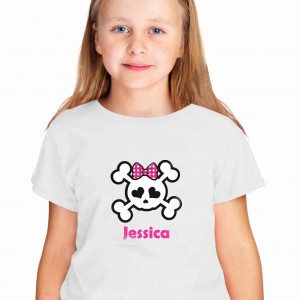 Girls Skull & Cross Bone Tshirt 5-6 years
