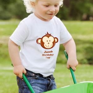 Monkey Boy Tshirt 3-4 years