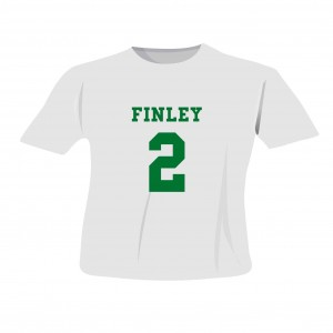 Green Name & Number T-shirt 2-3 Years