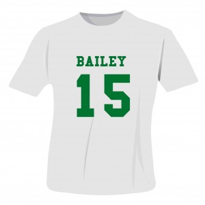 Green Name & Number T-shirt 14-15 Years