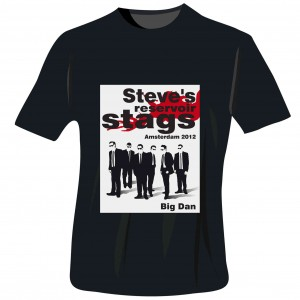 Reservoir Stags T-Shirt - Black - Large