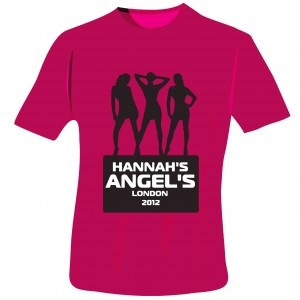 Angels Hen Do T-Shirt - Fuchsia Pink - Small