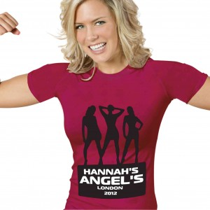Angels Hen Do T-Shirt - Fuchsia Pink - Large