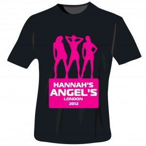 Angels Hen Do T-Shirt - Black - Large