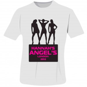 Angels Hen Do T-Shirt - White - Small