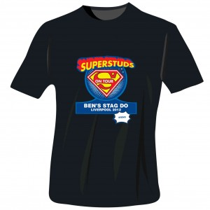 Superstuds Stag Do T-Shirt - Black - Large