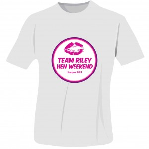 Lips Hen Do T-Shirt - White - Extra Large