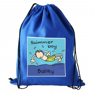 Bang On The Door Swimmer Boy Swim bag