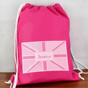 Pink Patchwork Union Jack Swimbag